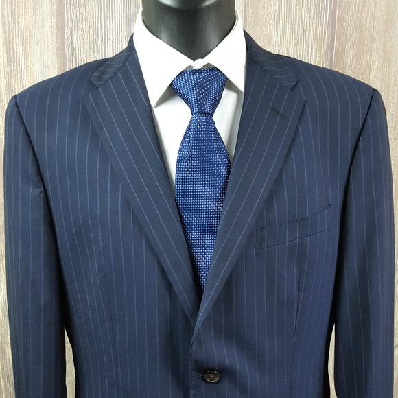cf2b34f0 Ermenegildo Zegna Men's 42L Wool Suit Jacket Navy